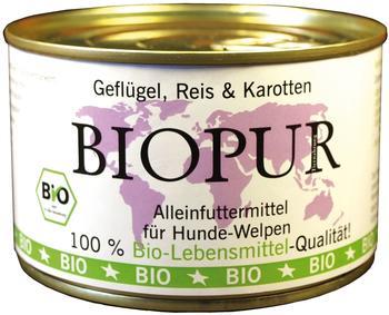 Biopur Welpen Geflügel, Reis & Karotten 12 x 400 g