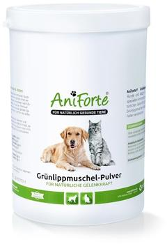 AniForte Grünlippmuschel-Pulver natürliche Gelenkkraft für Hunde & Katzen 500g