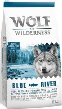 Wolf of Wilderness Adult Blue River Lachs 12 kg