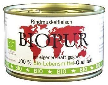 Biopur Rindmuskelfleisch Bio Ergänzungsfutter für Hunde 12 x 400g