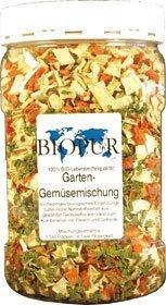 Biopur BIO Gartengemüse-Flocken | Klarsichtbox 220g