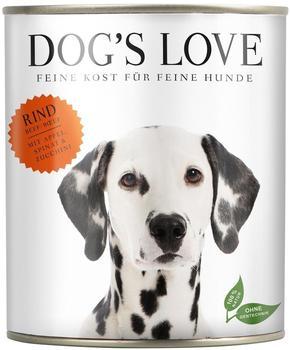 Dogs Love Rind mit Apfel, Spinat & Zucchini, - 6x400g