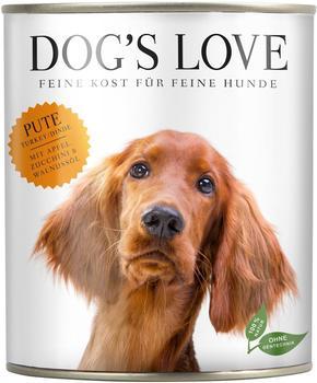 DOGS LOVE Pute mit Apfel, Zucchini & Walnussöl, 800g 11 plus 1