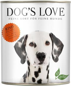 Dogs Love Classic Rind mit Apfel, Spinat & Zucchini 6 x 800 g