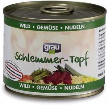 Grau Schlemmertopf Wild, Gemüse, Nudeln (200 g)