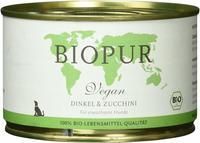 BIOPUR Hundefutter Bio Vegan Dinkel & Zucchini