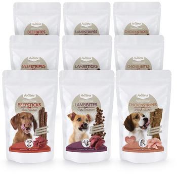 AniForte Aniforte Naturebreak Snack Set Komplett Hundesnack 9x150g- Naturprodukt für Hunde