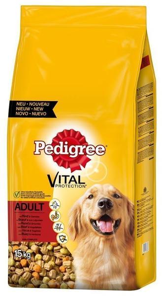 Pedigree Vital Protection Beutel Adult mit Rind & Gemüse 15kg
