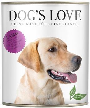 DOGS LOVE Lamm mit Kartoffel, Kürbis & Marille, - 6x200g
