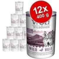 Wolf of Wilderness Mix-Paket Wolf of Wilderness Adult - 24 x 400 g Wold Arctic Spirit Rentier