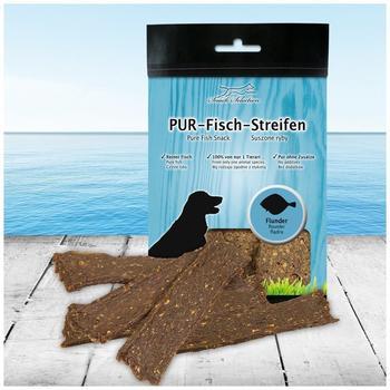 Schecker PUR-Fisch-Streifen Flunder 100g (Hundekauartikel, Hundesnack 100% gluten- und getreidefrei ideal für empfindliche Hunde(-rassen) und Allergiker