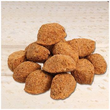 Schecker Karottinos vegane Maisteig-Brocken eine alternative Belohnung für Hunde ohne Fleisch und glutenfrei