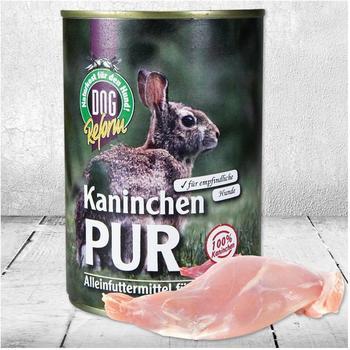 Schecker Kaninchen PUR 24 x 410 g (Hundefutter, Nassfutter, Dosenfutter)