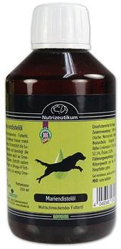 Schecker Mariendistelöl 250 ml wohlschmeckendes Futteröl für Hunde unterstützt die Leberfunktionen und beruhigt die Haut
