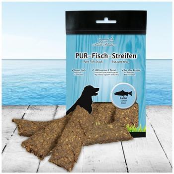 Schecker PUR-Fisch-Streifen Lachs 100g (Hundekauartikel, Hundesnack 100% gluten- und getreidefrei ideal für empfindliche Hunde(-rassen) und Allergiker