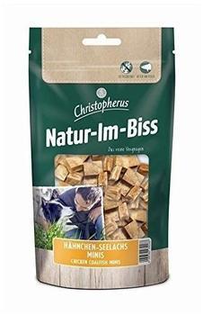 Allco Christopherus Kausticks für Hunde, Hähnchen-Seelachs Minis, Warmluftgetrocknet, Natur-Im-Biss, 70 g