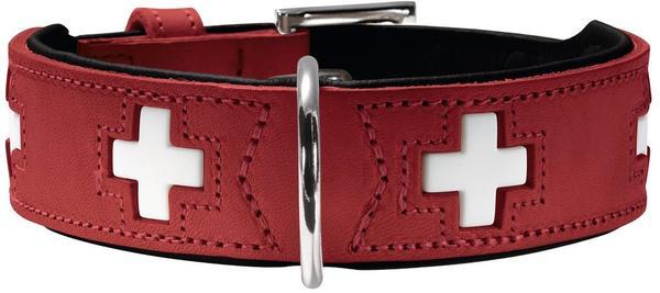 Hunter Hundehalsband Swiss 75 (39 mm / 61-68,5 cm) rot schwarz