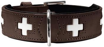 Hunter Hundehalsband Swiss 42 (26mm / 35-39,5cm) braun schwarz