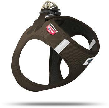 Curli Vest Geschirr Cord braun 2XS