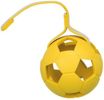 Trixie Sporting Ball am Gurt, Naturgummi, ø 11 cm/30 cm, blau oder gelb