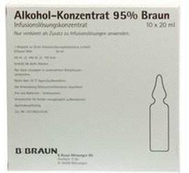 B. Braun Alkohol 95% Inf.-Lsg.Konz. (10 x 20 ml)