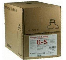 B. Braun Glucose 5 % Ecoflac Plus Infusionslösung (10 x 500 ml)