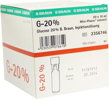B. Braun Glucose 20% Braun Mini Plasco Connect (20 x 10 ml)