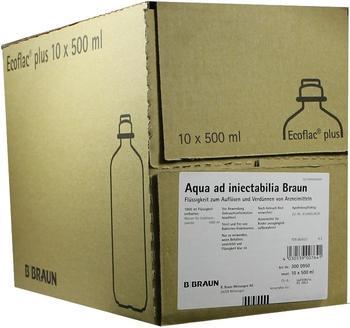 B. Braun Aqua Ad Injectabilia Ecoflac Plus 10 x 500 ml