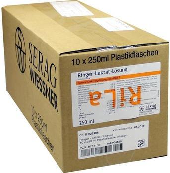 Serag-Wiessner Ringer Laktat Lösung Plastik (10 x 250 ml)