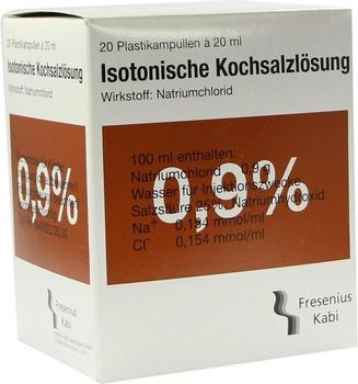 Fresenius Kochsalzloesung 0,9% Plastikamp.fresenius (20 x 20 ml)