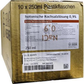 Serag-Wiessner Kochsalzloesung 0,9% Plastik (10X250 ml)