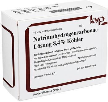 Köhler Pharma Natrium Hydrogencarbonat 8,4% (10 x 20 ml)