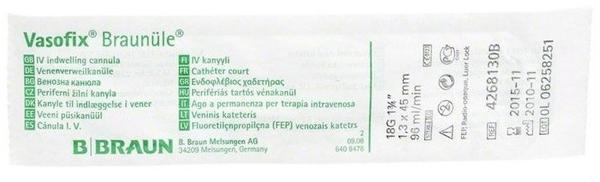 B. Braun Vasofix Braunuele 18g 45mm Gruen