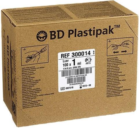 Becton Dickinson Bd Plastipak Tuberkulinspr.0,50 x 16 M.Aufg.Kan. 50 x 1 ml