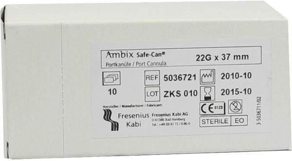 Fresenius Ambix Safe Can Portpunkt.kan. 22gx37mm Gerade (10 Stk.)