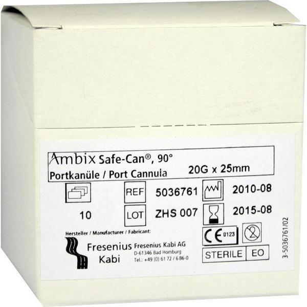 Fresenius Ambix Safe Can Portpunkt.kan. 20gx25mm Gebogen (10 Stk.)