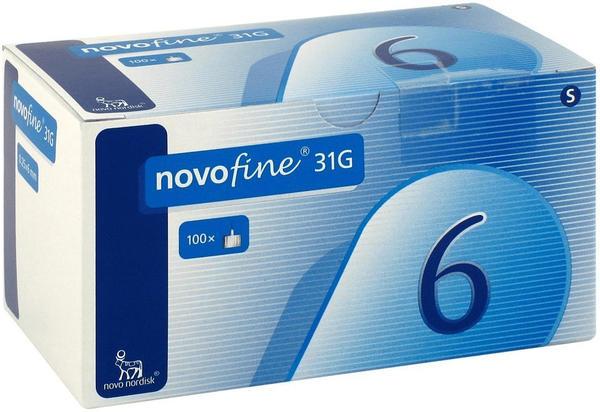 Eurim-Pharm NOVOFINE 6 Kanülen 0,25x6mm 31G Kanuele (100 Stück)