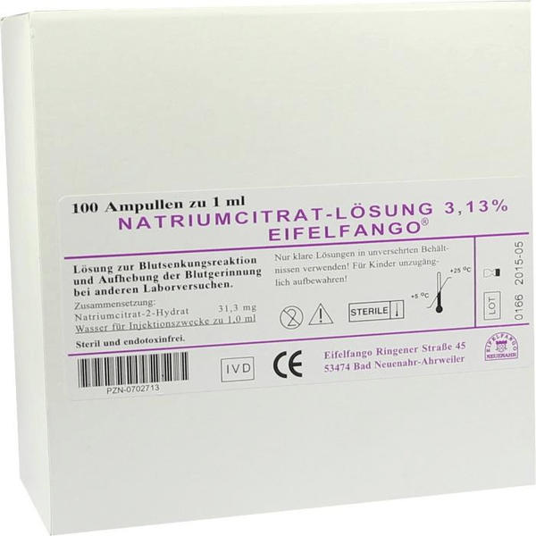 Eifelfango Natrium Citricum 3,13 % Ampullen (100 x 1 ml)