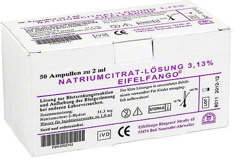 Eifelfango Natrium Citricum 3,13 % Ampullen (50 x 2 ml)