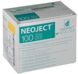 Dr. Junghans Medical Kanuelen Einmal Neoject Gr.1 0,9X40Mm (100 Stk.)