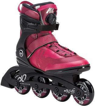 K2 Alexis 80 Boa Inline Skates, Rot, 9.5 US