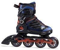 Fila Jungen Wizy Alu Inline Skate, schwarz/Rot/Blau, 35-38