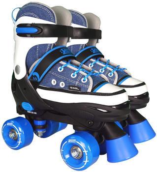 Best Sporting Rollschuhe blau-weiss Gr. 28-39 verstellbar, Größe:28-31