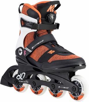 K2 Inlineskates Alexis 80 Boa, für Damen, schwarz/weiß/orange, 36