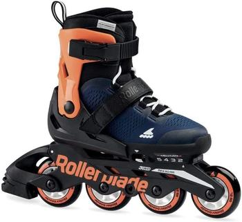Rollerblade MICROBLADE Schlittschuhe Unisex Midnight Blue Warm Orange 175