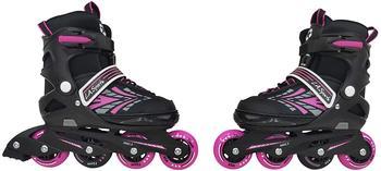 L A Sports L.A. Sports Inlineskates Inliner Skate Softboot Kinder Jugendliche Größenverstellung 5 Größen verstellbar, auf Leisten gefertigter Komfortschuh, 5 Größen verstellbar mit Knopfdruck 29/32
