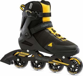 Rollerblade SPARK 80 Inline Skate 2021 black/saffron yellow, - 47
