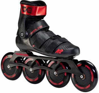 K2 Inline Skates REDLINE 110 Für Erwachsene Mit K2 Softboot, Black - Red, 30F0195
