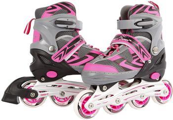 Kids Globe Street Rider Inlineskates (Inliner) rosa/grau, verstellbar 31-34