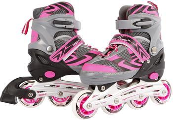 Kids Globe Street Rider Inlineskates (Inliner) rosa/grau, verstellbar 35-38